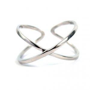 """Zilveren """"X"""" Ring - Zilverring"""