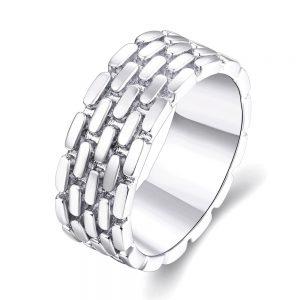 Ring met baksteen motief