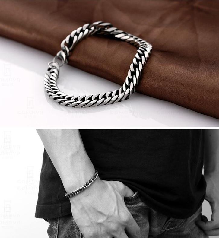 brede heren armband edelstaal gourmet schakel - lazy cat sieraden