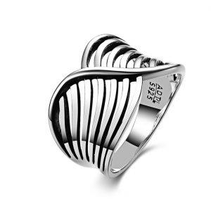 Zilveren Damesring - Gerhodineerd
