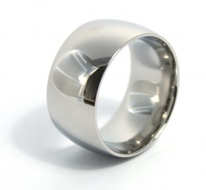 Stalen Gepolijste Ring - 12mm Breed - Edelstaal