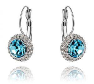 Oorbellen - Oorstekers - Blauw Kristal