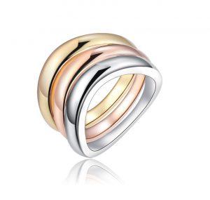 Vergulde Ring - Tricolor