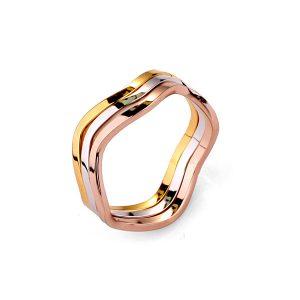 Vergulde Tricolor Ring