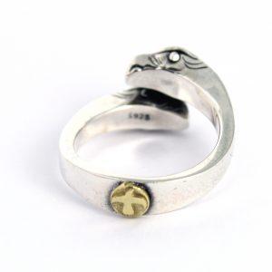 Zilveren adelaar ring