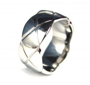 Ring uit Edelstaal - Wit Vergulde Coating