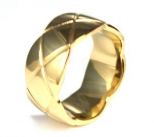Ring uit Edelstaal - Vergulde Coating