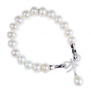 Zilveren Zoetwater Parel Armband