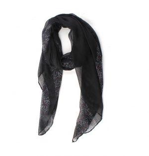 Lange Dames Sjaal in Gebroken Zwart 100% Viscose