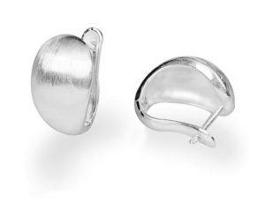 Brede Zilveren Oorringen- Oorbellen - Handgemaakt