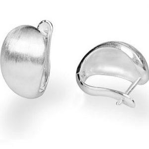 Brede Zilveren Creolen - Oorbellen - Handgemaakt