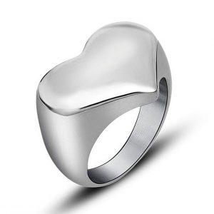Stalen Ring met Hart