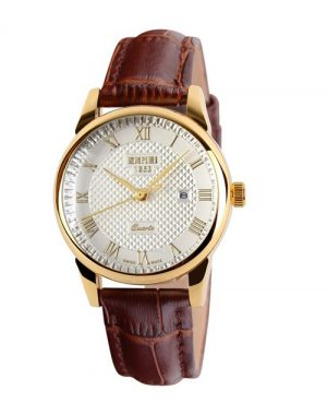 Dameshorloge - Golden Case Watch - Leren Band