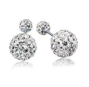 Zilveren Oorknopjes Double Dots