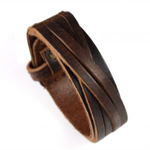 Armband - Leer - Verstelbaar - Bruin