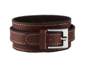 Verstelbare Lederen Armband - Bruin