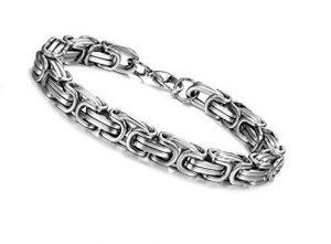 Stalen Konings Armband 316L Edelstaal Ø 6mm Heren