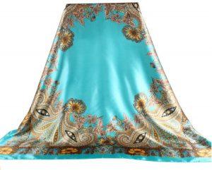 Turquoise Dames Sjaal 90 x 90cm