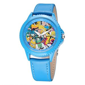 Blauw Horloge Striptekening – Kinderhorloge – Kids Watch