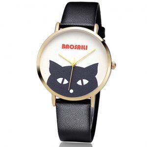 Horloge met Zwarte Kat