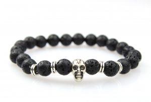 Lava Armband Doodshoofd - Kralen Armband
