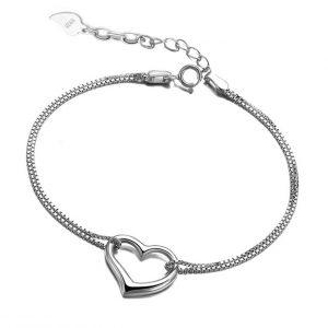 Zilveren Armband met Hart - Love Bracelet