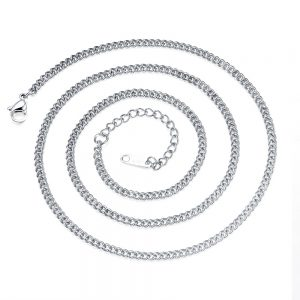 Stalen Halsketting - Schakelketting - 3mm breed