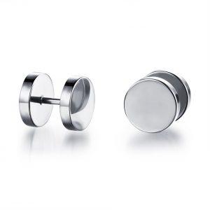 Mannen Studs Oorbellen - Zilveren Look - Ø 9mm