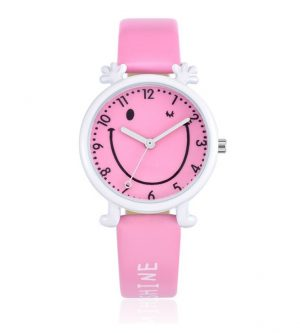 Happy Smiley Kinderhorloge - Roze