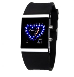 LED Dames Horloge - Display Twee Hartjes