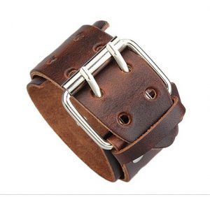 XL Leren Armband - Wide Belt - Brown
