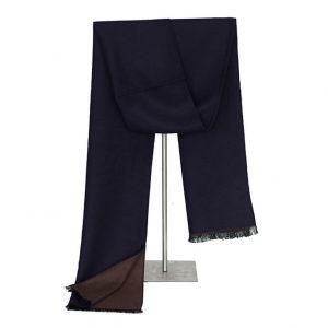 Sjaal voor Mannen - Golden Brown and Blue