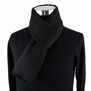 Zwarte Herensjaal - Shawl voor Mannen