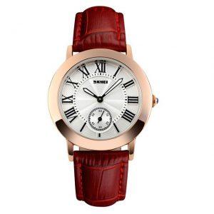 Dames Horloge - Rosé Verguld - Lederen Band