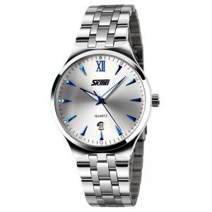 Heren Horloge Staal - Zilverkleurig - Wit