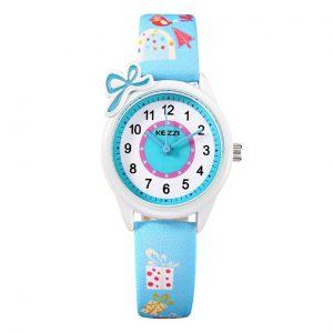 Kinderhorloge Cadeautjes - Horloge Kids - Blauw Bandje