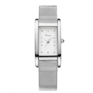 Dames Horloge - Mesh Band - Zilveren Look