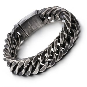 Zware Donkere Armband - Stainless Steel