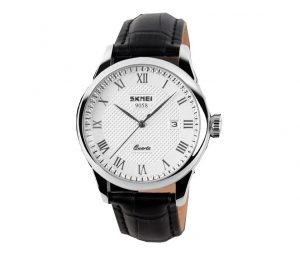 Klassiek Heren Horloge - Black Leather