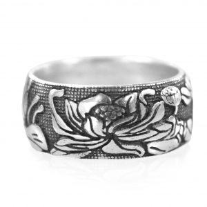 Zilveren Ring - Lotus - Handgemaakt