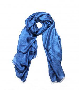 Dames Sjaal - Zijde Blauw