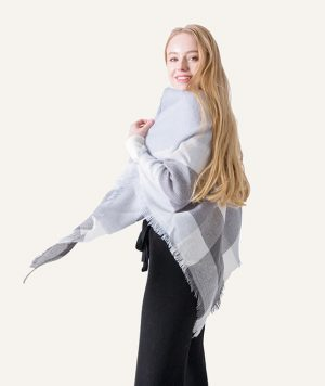 Geruite Omslagdoek - Sky Colours - Driehoek Sjaal