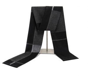Heren Sjaal - Zwart/Grijs - Shawl voor Mannen
