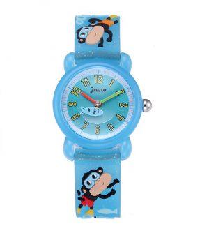 Kinderhorloge Aapjes - 3D Watch - Lichtblauw