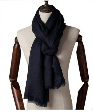 Extra Lange Sjaal – Deep Blue – Omslagdoek