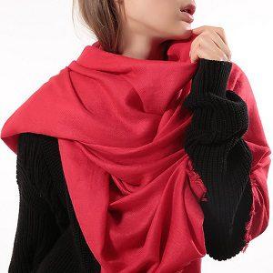 Oversized Sjaal - Rood - Omslagdoek