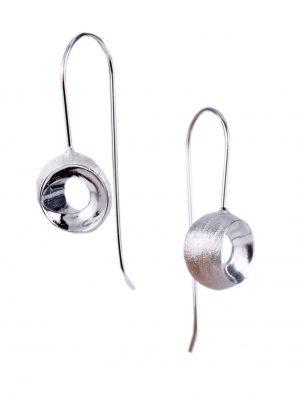 Zilveren Oorbellen - Gesneden Bol Oorstekers