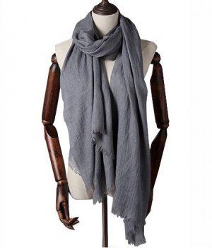 Extra Lange Sjaal – Evening Grey – Omslagdoek