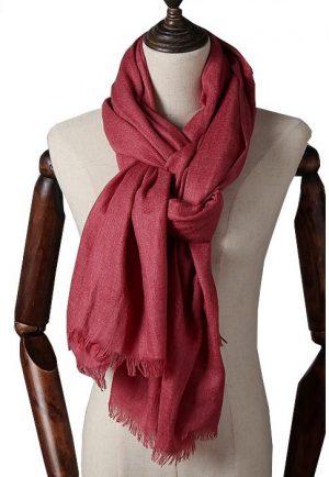 Extra Lange Sjaal – Wine Red – Omslagdoek