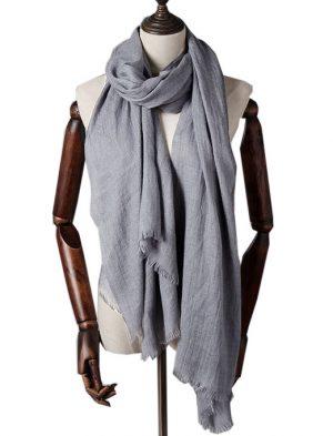 Extra Lange Sjaal – Silver Grey – Omslagdoek